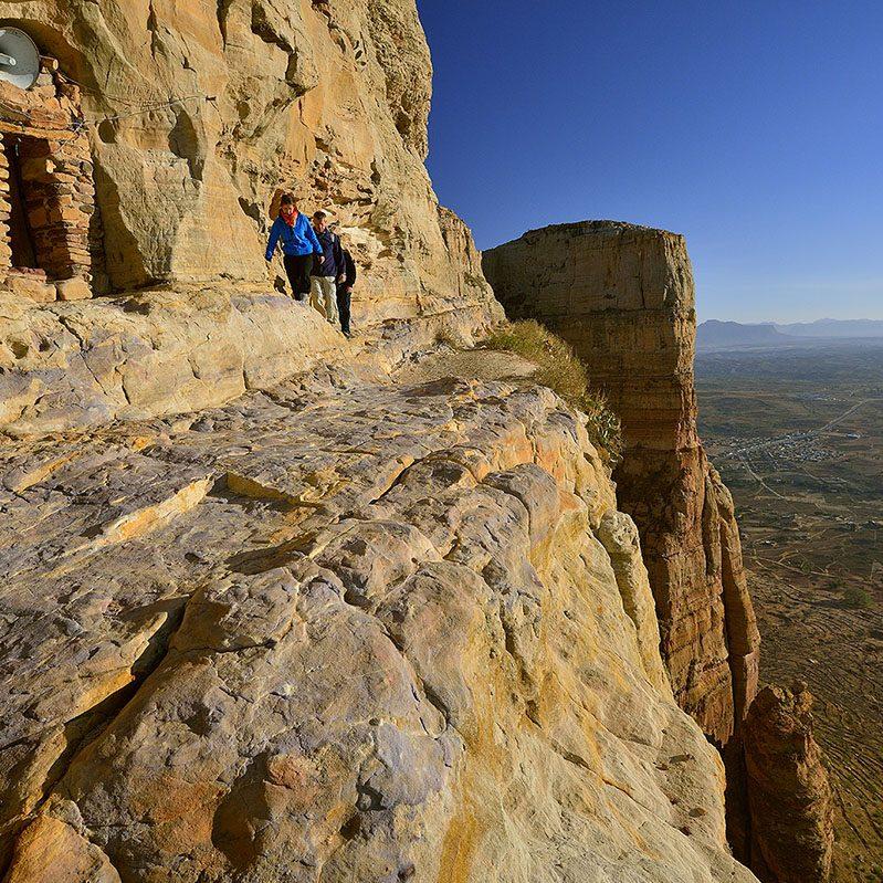 Eglise creusŽe de Abba Daniel, massif montagneux de la GuŽralta, Tigrai oriental, nord de lÕEthiopie.